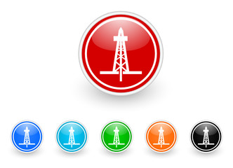 drilling icon vector set