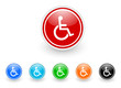 wheelchair vector icon set