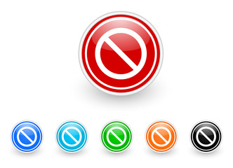 access denied vector icon set