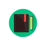 Vector Notepad and Pencil Icon