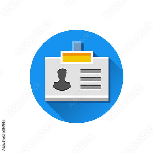 Vector Name Tag Icon