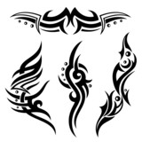 Tribal und Tattoo Vektor Set, Ornamente
