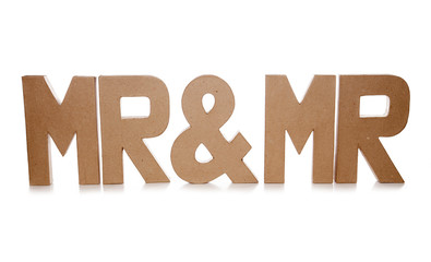 mr and mr decoupage letters