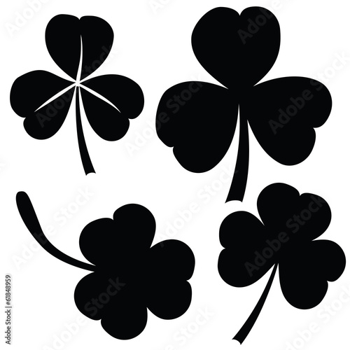 collection of clover, St. Patrick's day (vector)