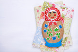 Edible homemade gingerbread as traditional Russian nesting doll