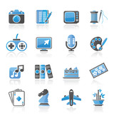 Hobbies and leisure Icons - vector icon set