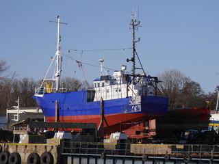 fishing boat in the shipyard