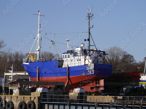 fishing boat in the shipyard