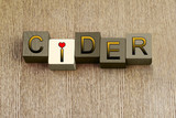 Love for Cider, sign series for cider and apple lovers.