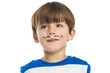 Little Boy With A Mustache Drawn