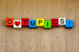 Love for Olympics, sign series for athletics and sport.