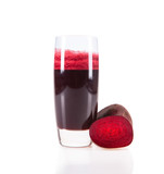 Beetroot juice,Healthy drink isolated on white background