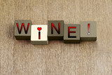 Love for Wine, sign series for wine and grape lovers.