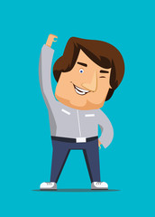 Thinking positively man  vector illustration icon