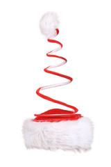Santa Claus spiral red hat.