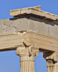 ancient temple architectural detail, Athens Greece