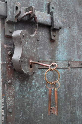 constipation of old door latch and lock
