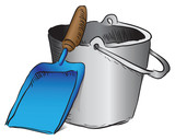 Shovel and bucket garbage