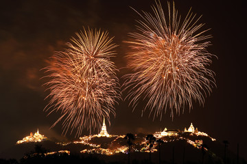 Fireworks show in Thaiand