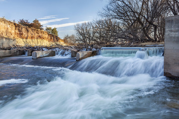 river diversion dam in Colorado