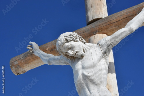 Wooden cross - Val Gardena in Dolomites, Seceda
