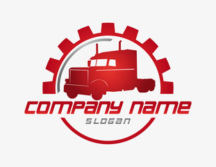 Truck business logo