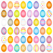 Slim Easter Eggs Pattern Color Mix