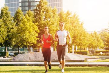 Sport und Fitness Jogging in der Stadt