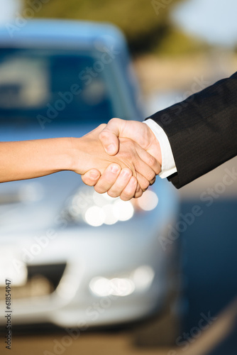 Car sale or rental concept