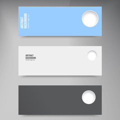 Vector banners and hol. Color set