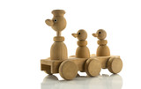wooden toy duck car