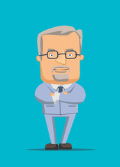 Business CEO guru manager organizer vector illustration