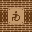 Vector disabled man restroom sign