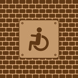 Vector disabled man restroom sign