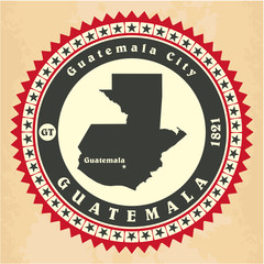 Vintage label-sticker cards of Guatemala