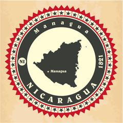 Vintage label-sticker cards of Nicaragua
