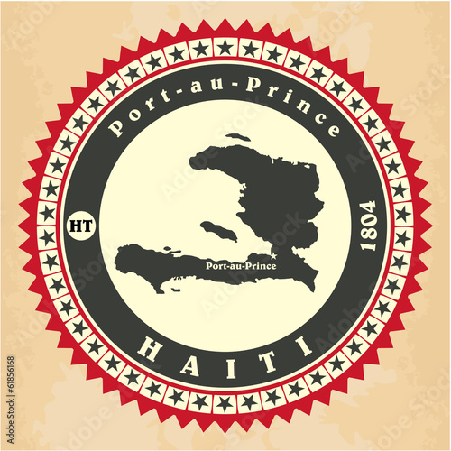 Vintage label-sticker cards of Haiti.