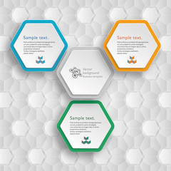 Infographics Vector Background Honeycomb Structure