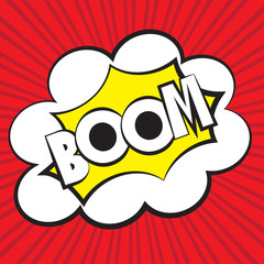 Boom comic, Vector illustration comic style