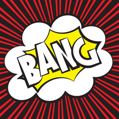 Bang comic, Vector illustration comic style
