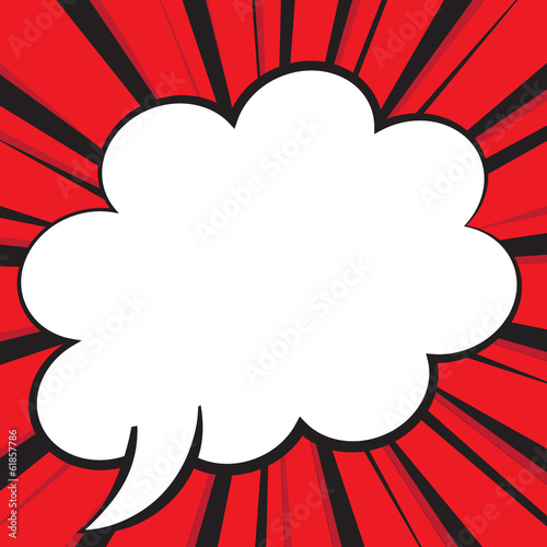 Comic Speech Bubble, Vector illustration comic style