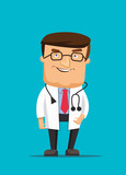 Professional clean doctor illustration wearing stethoscope