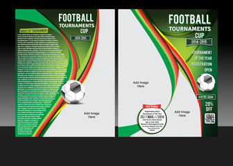 Football Tournament Cup Flyer