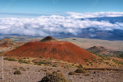 Wulkaniczny krajobraz z Mauna Kea