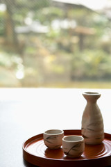 bottle and sake cup