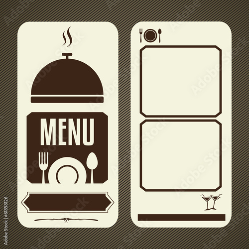 Menu template for restaurant and cafe, Vector illustration.