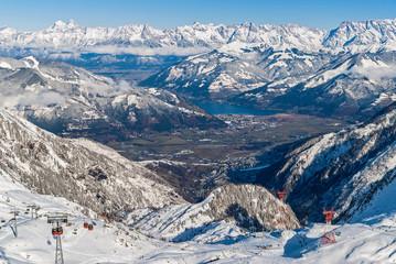 View of the Alps in winter, Austria