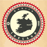 Vintage label-sticker cards of Ireland.