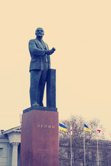 Monument to Lenin Simferopol Ukraine