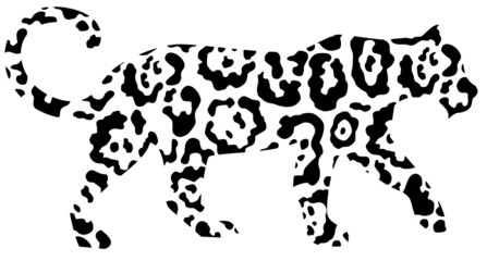 Abstract leopard
